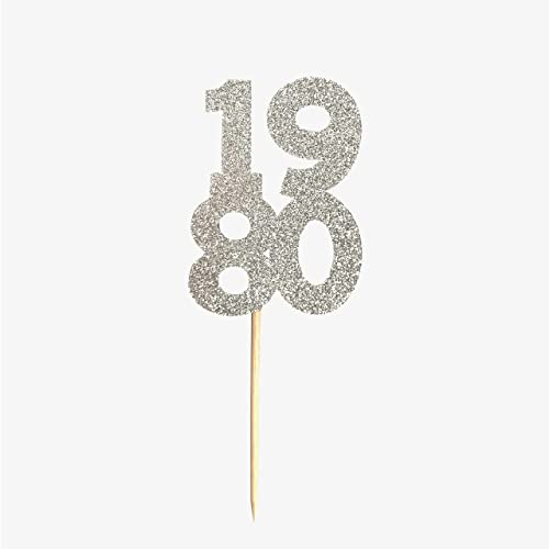 Glitter Number Cupcake Toppers 12 CT.
