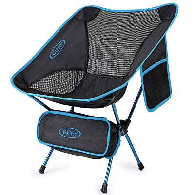G4Free Upgraded Lightweight Portable Chair Outdoor Folding Camping Chairs with Side Pocket for Sports Picnic Beach Hiking Fishing Backpacking (Blue) : Sports & Outdoors