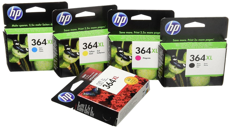 Amazon.com: HP 364 X L negro, cian, Magenta y amarillo y ...