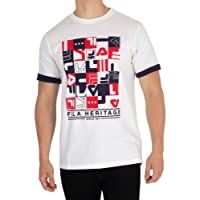 Fila Vintage Men's Graphic T-Shirt, White