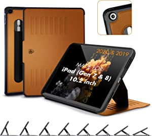 ZUGU CASE (New Model) Muse Case for iPad 10.2 Inch (2020/2019) Protective, Thin, Magnetic Stand, Sleep/Wake Cover - Brown - (Fits Model #s A2197 / A2198 / A2200 / ?A2270? / ?A2428 / ?A2429 / A2430?)