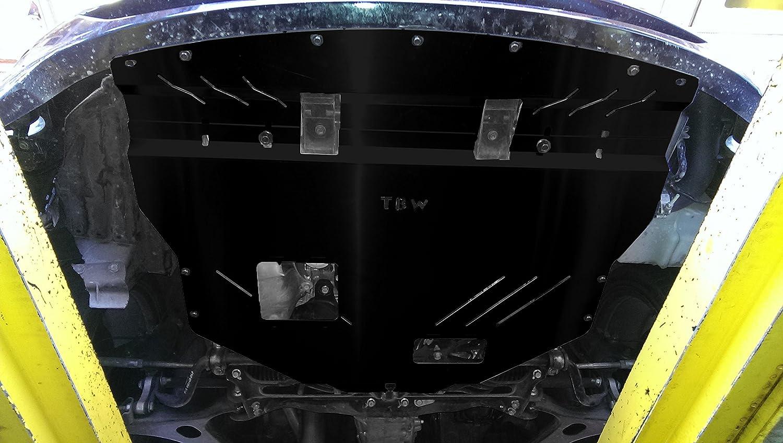 Black TBW Aluminum Under Tray Skid Plate for 2011-2014 Subaru WRX /& STI