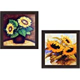 Wens 'Sunflower' Wall Hanging Painting (MDF, 35 cm x 71 cm x 2.5 cm, WSPC-4006)