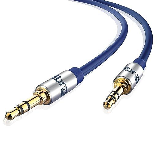 134 opinioni per IBRA Cavo Audio Jack 3.5mm- Stereo Maschio a Stereo Maschio- 5 m /blu Wire