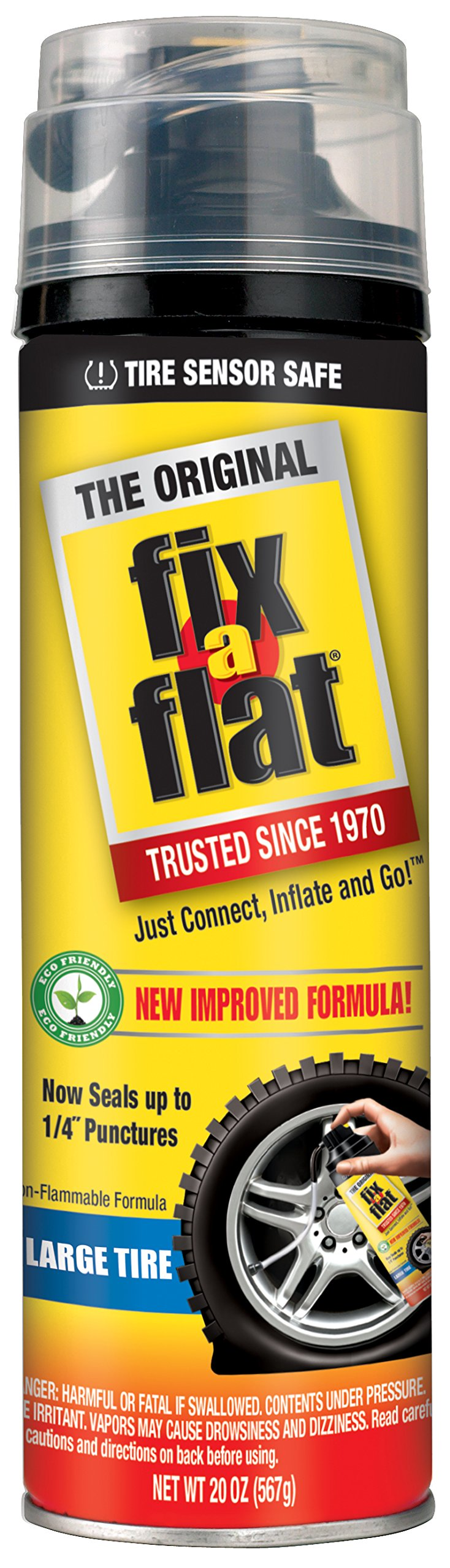 Fix-A-Flat S60430-6PK Tire Inflator with Eco-Friendly Formula, 6 Pack (20 oz) by Fix-A-Flat