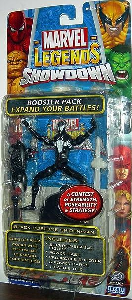 Marvel Legends - Showdown Battle Pack 1 - Black Costume Spider-Man ...