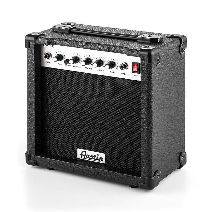 Austin GA-10 Amplificador para guitarra EQ Distorsión Portátil Negro: Amazon.es: Instrumentos musicales