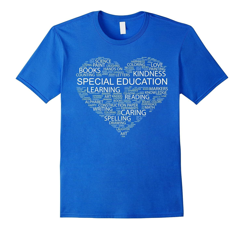 Special Education Teacher Word Heart T Shirt Funny-Teesml