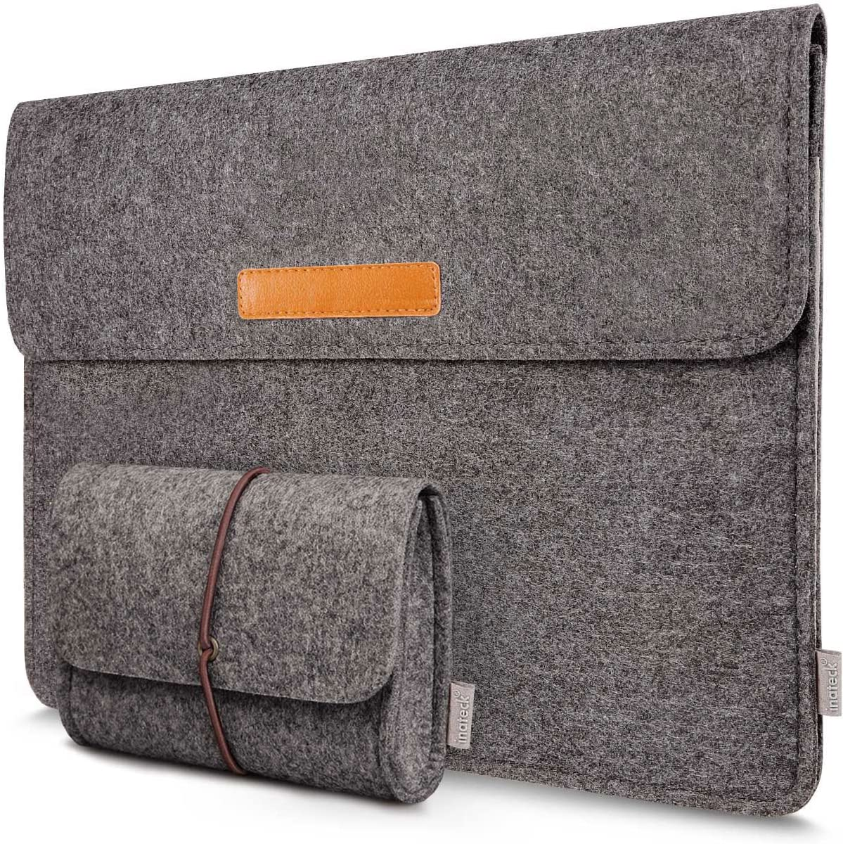 Inateck Laptop Sleeve Case Compatible with New 16 Inch MacBook Pro 2019/15 Inch Old MacBook Pro Retina 2012-2015/Dell XPS 15 Felt Sleeve, with Small Accessory Bag Pocket, Dark Gray