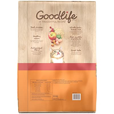 Goodlife Adult Cat Real Chicken And Brown Rice Recipe Dry Cat Food 22 Pounds (Discontinued By Manufacturer)