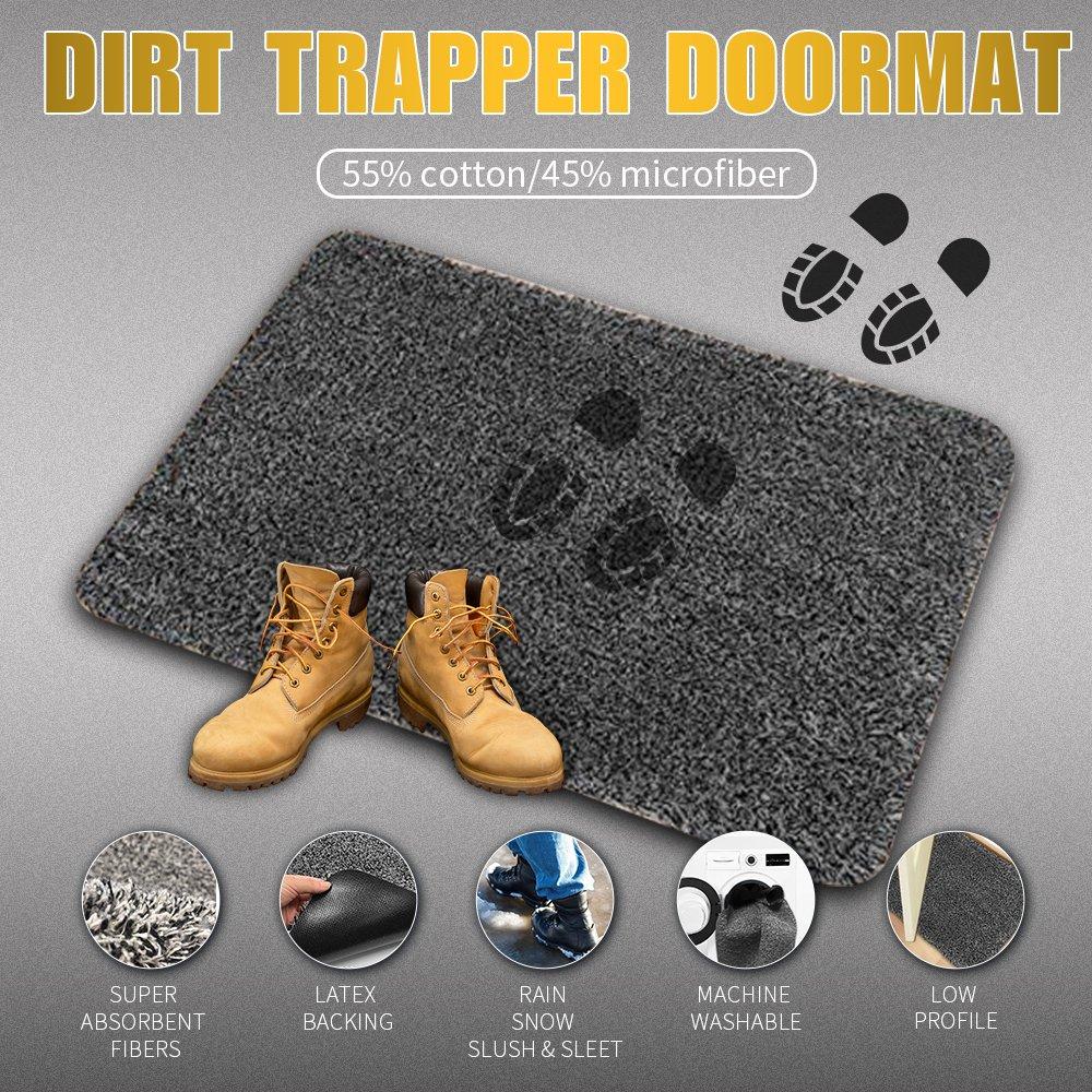 Indoor Doormat Super Absorbs Mud Latex Backing Non Slip Door Mat ...