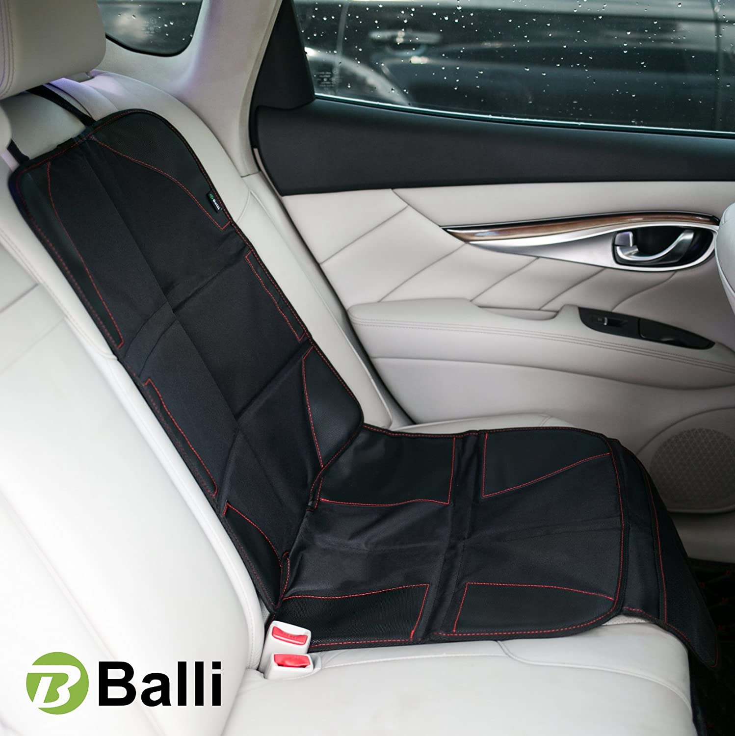 Baby Car Seat Protector with Thickest Padding - Premium Carseat Seat Protectors - Carseat Auto Cover - Seat Protector Under Car Seat - Car Seat Guardian - Leather Car Seat Mat - Booster Seat Protector Balli Product