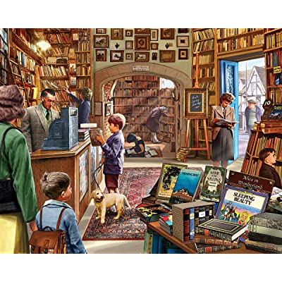 White Mountain Puzzles Old Book Store 1000Piece Jigsaw Puzzle: Toys & Games
