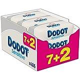 Dodot Sensitive - Toallitas para bebe, 9 paquetes de 54 unidades