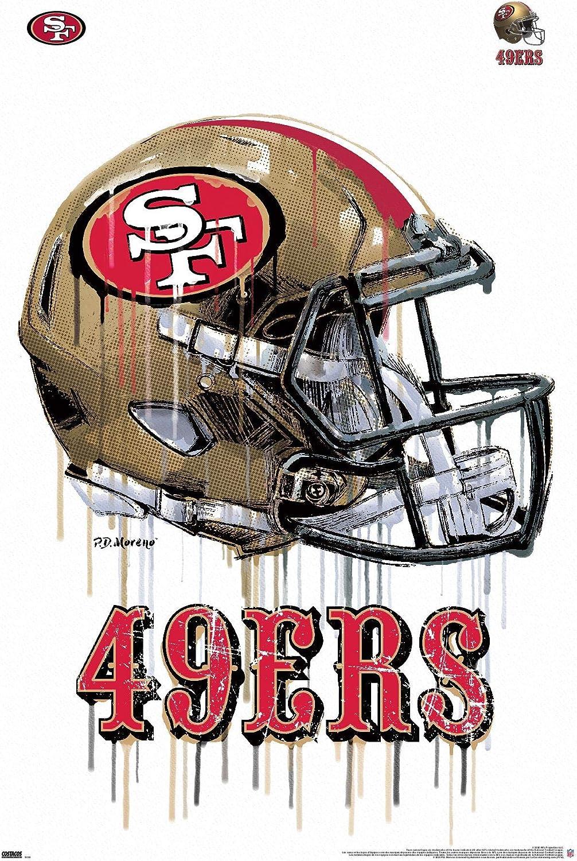 Trends International NFL San Francisco 49ers - Drip Helmet 20 Wall Poster, 22.375