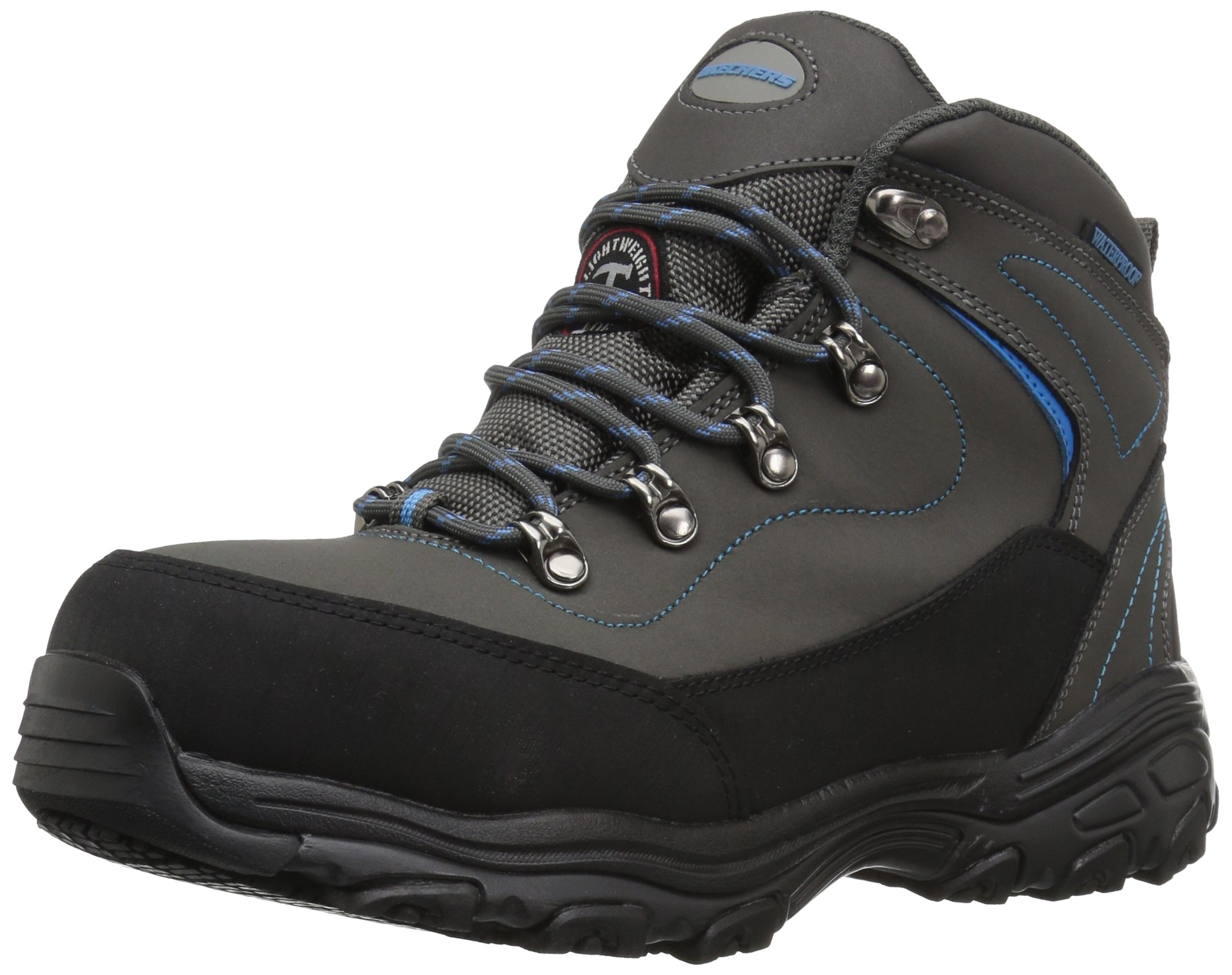 Skechers for Work Women's D Lite Amasa Work Boot, Gray Blue, 8 W US