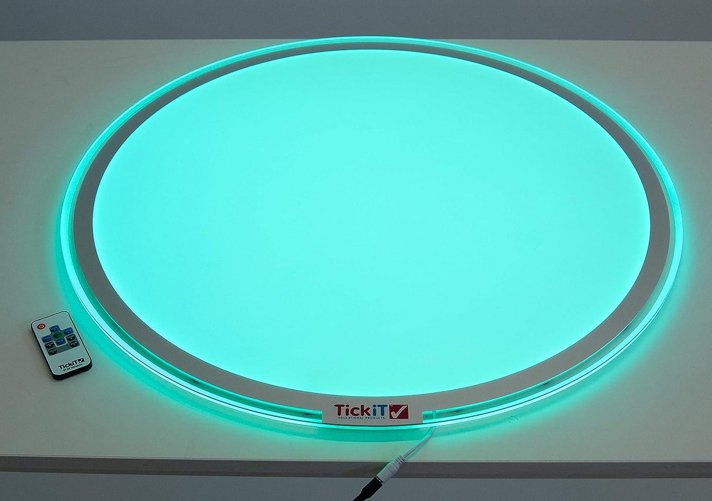 mesa de luz redonda portatil