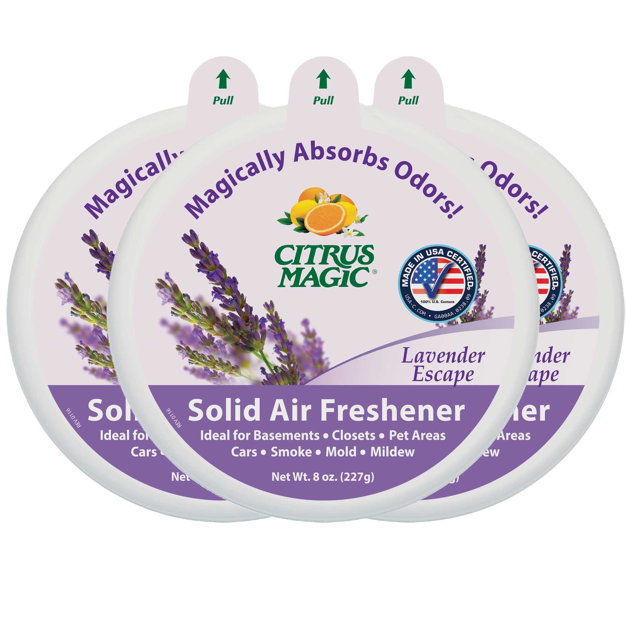 Citrus Magic Solid Air Freshener Lavender Escape, Pack of 3, 8-Ounces Each
