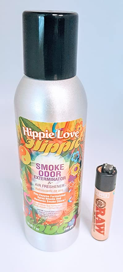Smoke Odor Eliminator and Exterminator Spray 7oz (Hippie Love, 7oz)