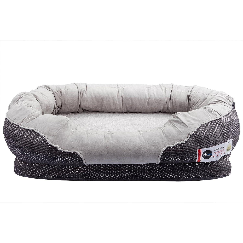 Amazon BarksBar Gray Orthopedic Dog Bed 40 x 30