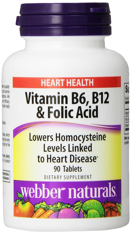 Webber Naturals Vitamin B6, B12 and Folic Acid Tablets, 90 Count   eBay