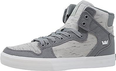 Supra Unisex Vaider Grey Canvas Sneaker
