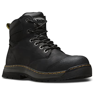 Dr. Martens Mens Deluge EH Safety Toe Water Proof 6-Eye Boot | Industrial & Construction Boots