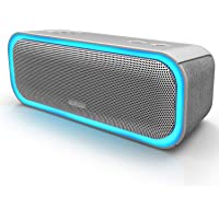 DOSS SoundBox Pro Portable Wireless Bluetooth Speaker V4.2 with 20W Stereo Sound, Active Extra Bass, Wireless Stereo Paring, Multiple Colors Lights, Waterproof IPX5, 10 Hrs Battery Life - Grey
