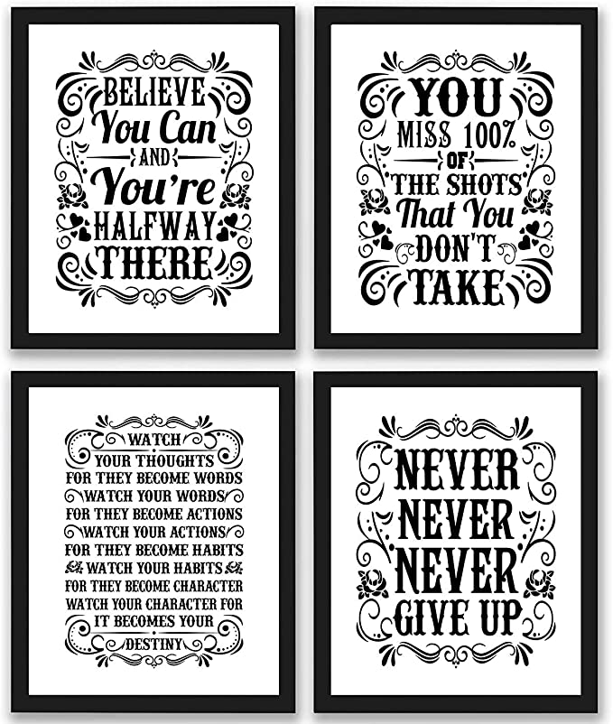Motivational Print Office Print Gold Quote You Can Do Anything But Not Everything Inspirational Quote Flower 16x20 11x14 8x10 5x7 4x6