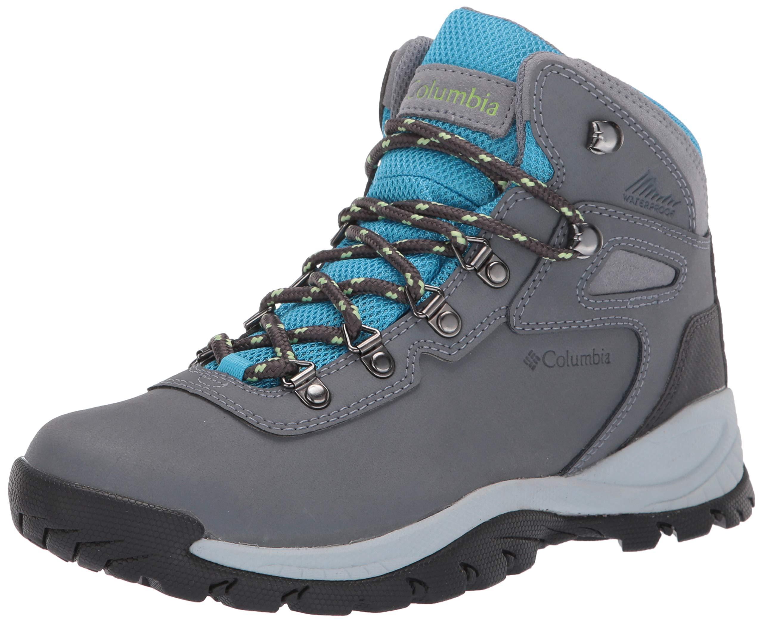 Columbia Women's Newton Ridge Plus Hiking Boot, Grey Ash/Riptide, 6 Regular US by Columbia (Image #1)