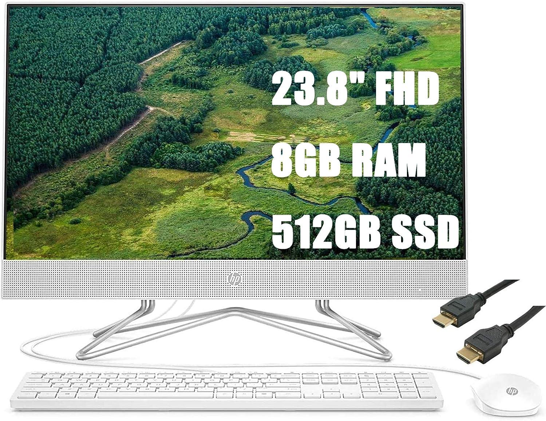 2020 HP 24 All-in-One Premium Desktop Computer 23.8