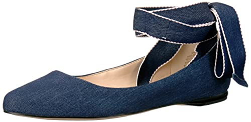 Nine West Women's Samara Denim Ballet Flat