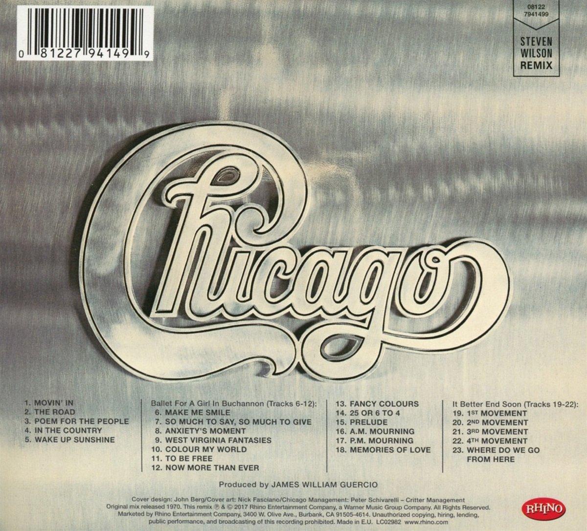 17043723e8d Chicago II (Steven Wilson Remix): Amazon.co.uk: Music