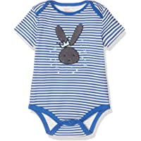 Koton Erkek Bebek Kısa Kollu Çizgili Tulum, Mavi