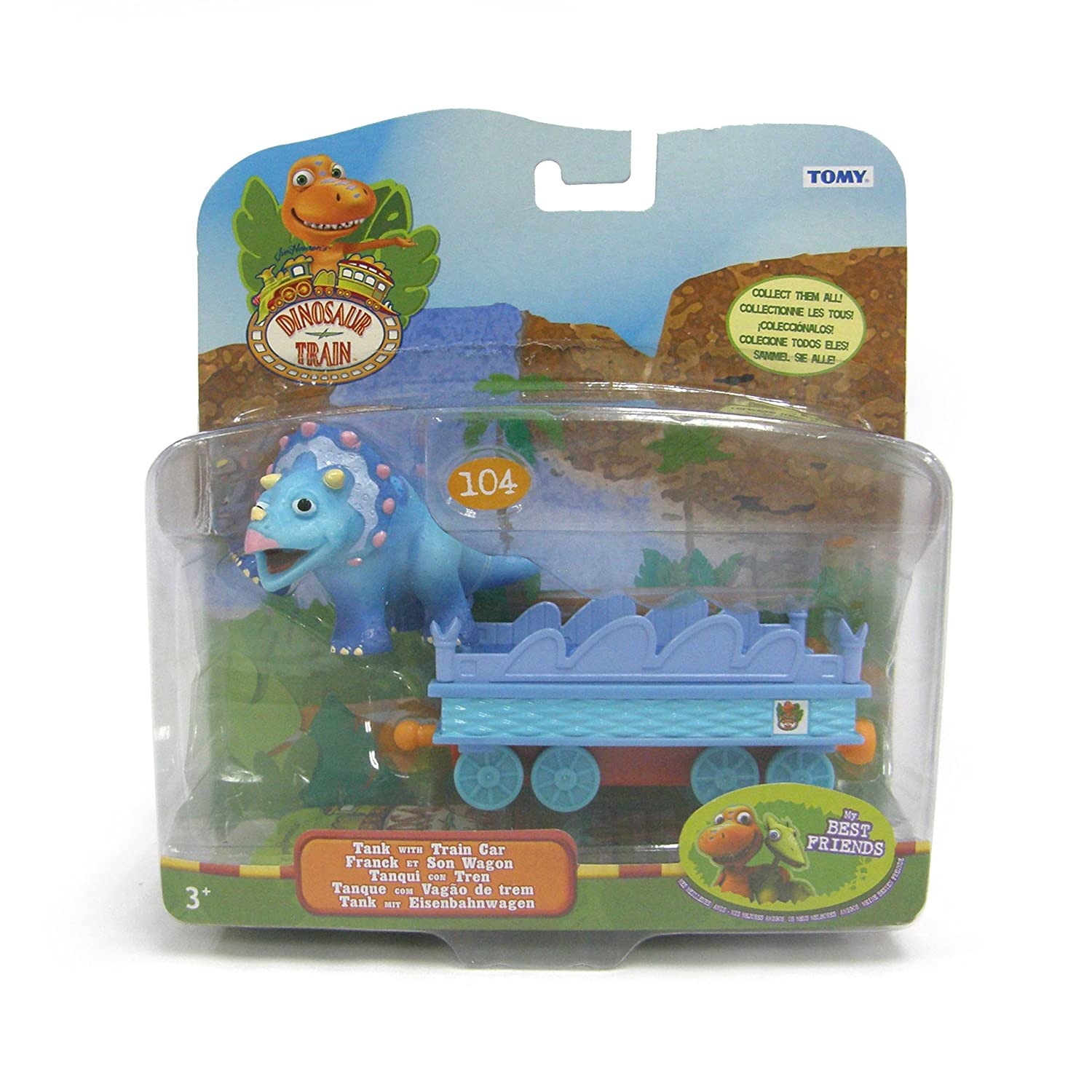 Amazon Dinosaur Train Collectible Tank With Train Car Toys