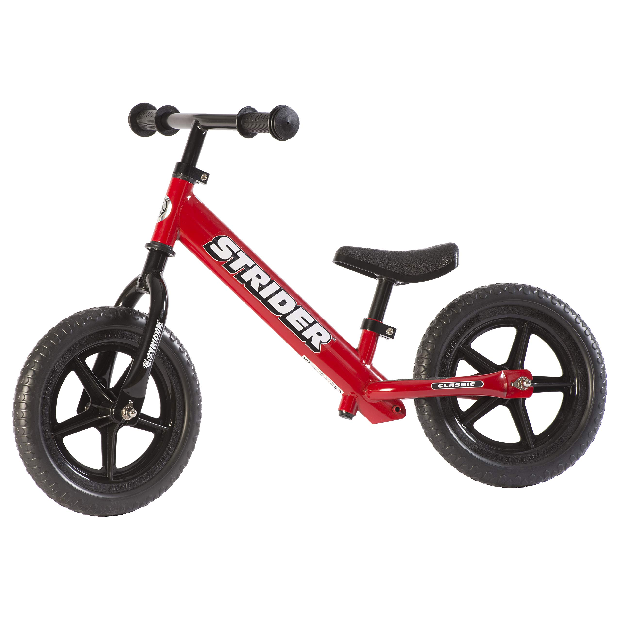 Strider - 12 Classic No-Pedal Balance Bike, Ages 18 Months to 3 Years, Red by Strider