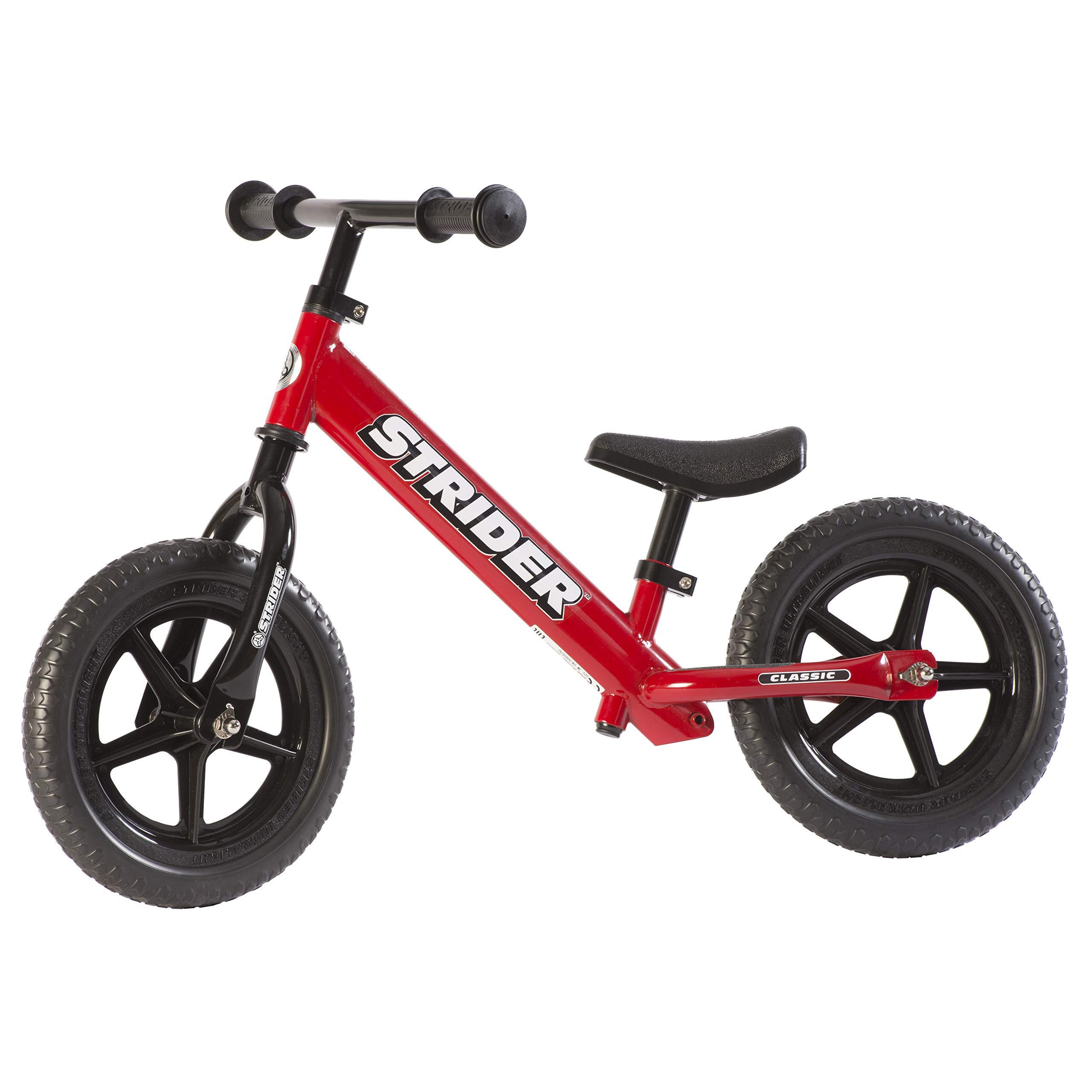 Strider 12 Classic No-Pedal Balance Bike - Red