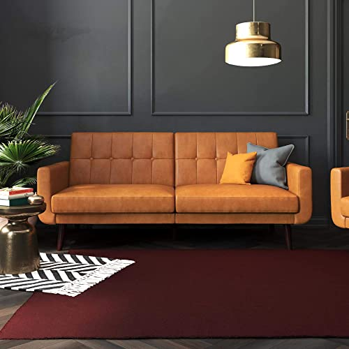 Better Homes Gardens Nola Sofa Bed Camel Faux Leather