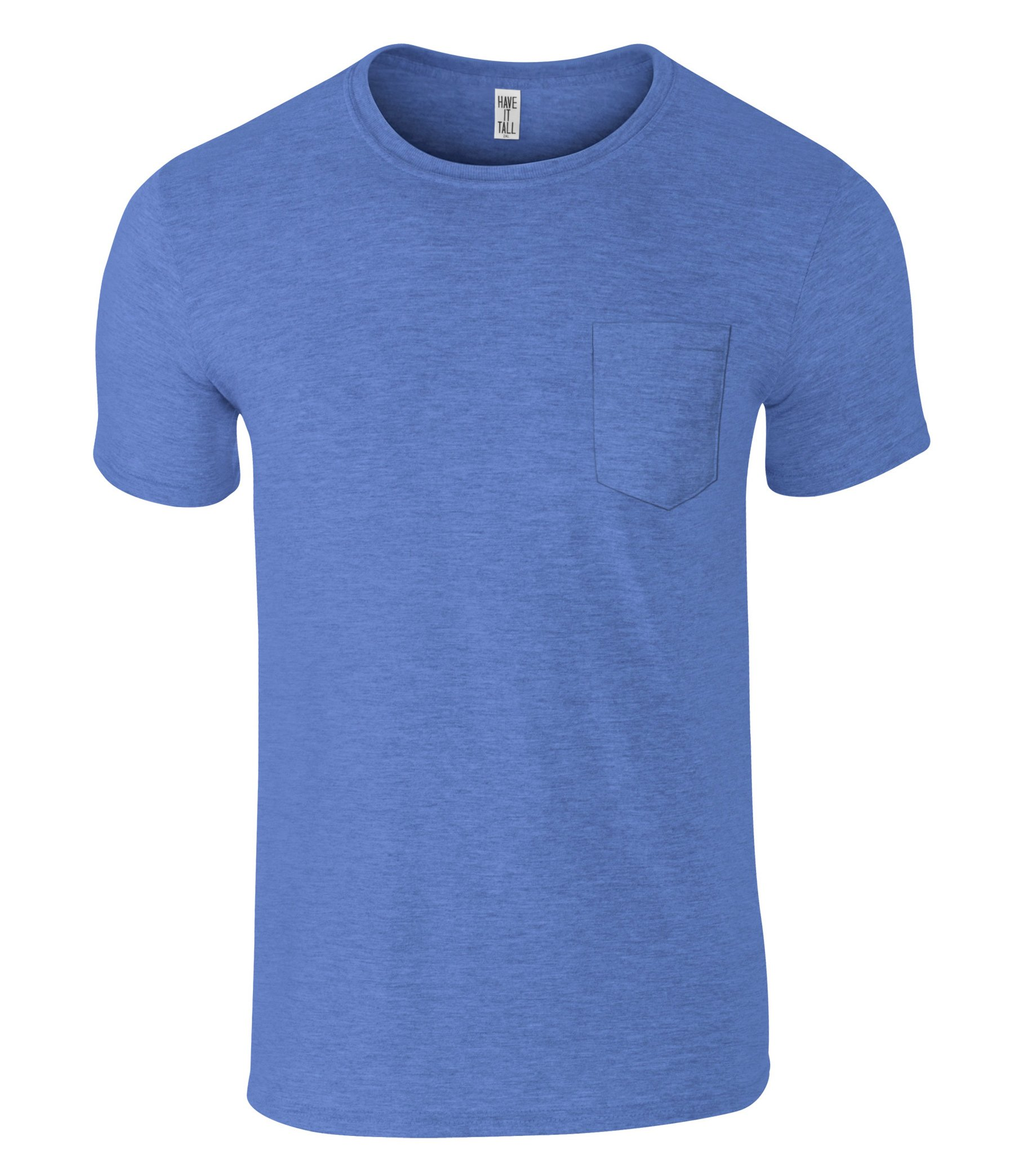 Have It Tall Men's Slim Fashion Fit Pocket T Shirt Athletic Blue Large Tall