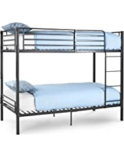 VonHaus Bunk Bed Frame – No Screw & Bolt Construction for Easy Assembly BOLTZERO™ Twin Bed Frame. Maximise Space - 26cm off the ground