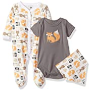 Hudson Baby Multi Clothing Set, Woodland Creatures 3 Piece, 0-3 Months (3M)