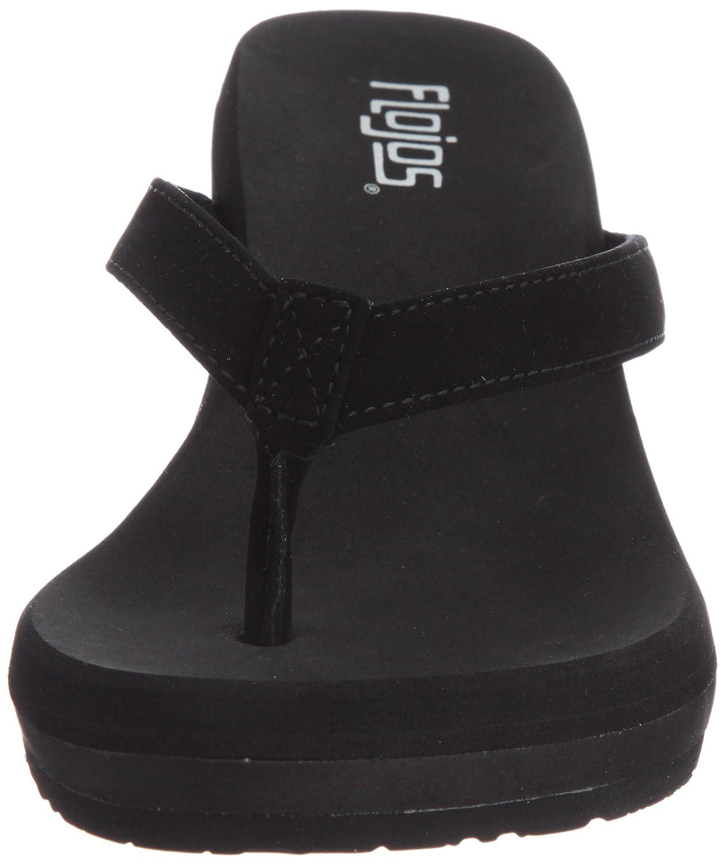 best service 5f3fe 43cec ... Flojos Women s Olivia Wedge Sandal Sandal Sandal B003INV55K 11 B(M) US  Black ...