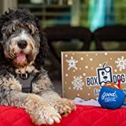 BoxDog - 4 Giant Seasonal Dog Boxes per Year Filled With Handmade Treats, Vegan Skincare, Dog Toys, Gear & Gadgets: Tough Ch