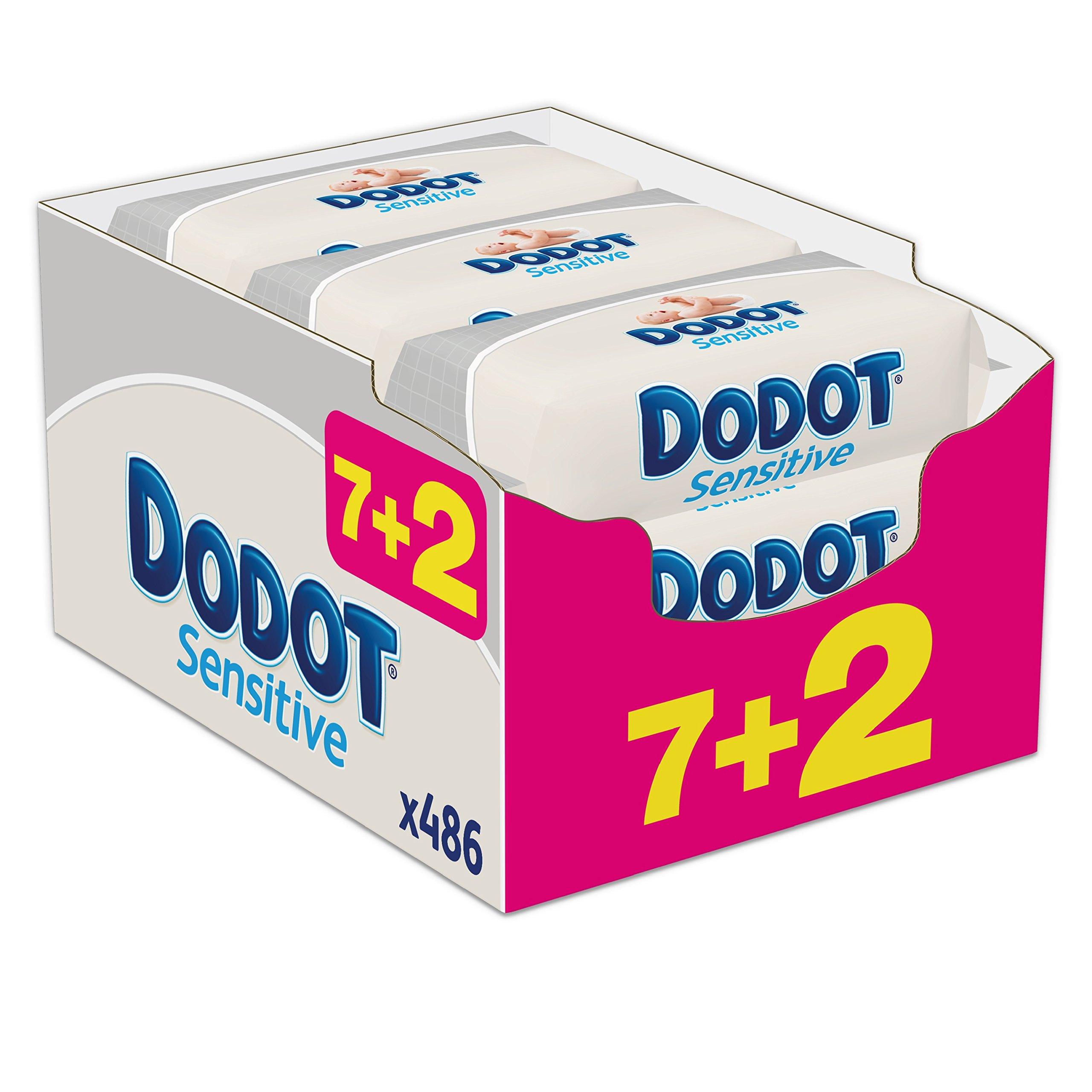 Dodot Sensitive - Toallitas para bebe, 9 paquetes de 54 unidades product image