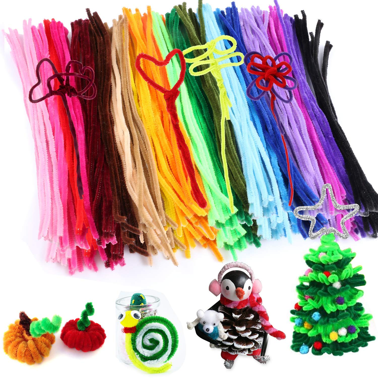 Amazon Com 300pcs Pipe Cleaners Bulk Chenille Stem Craft Supplies
