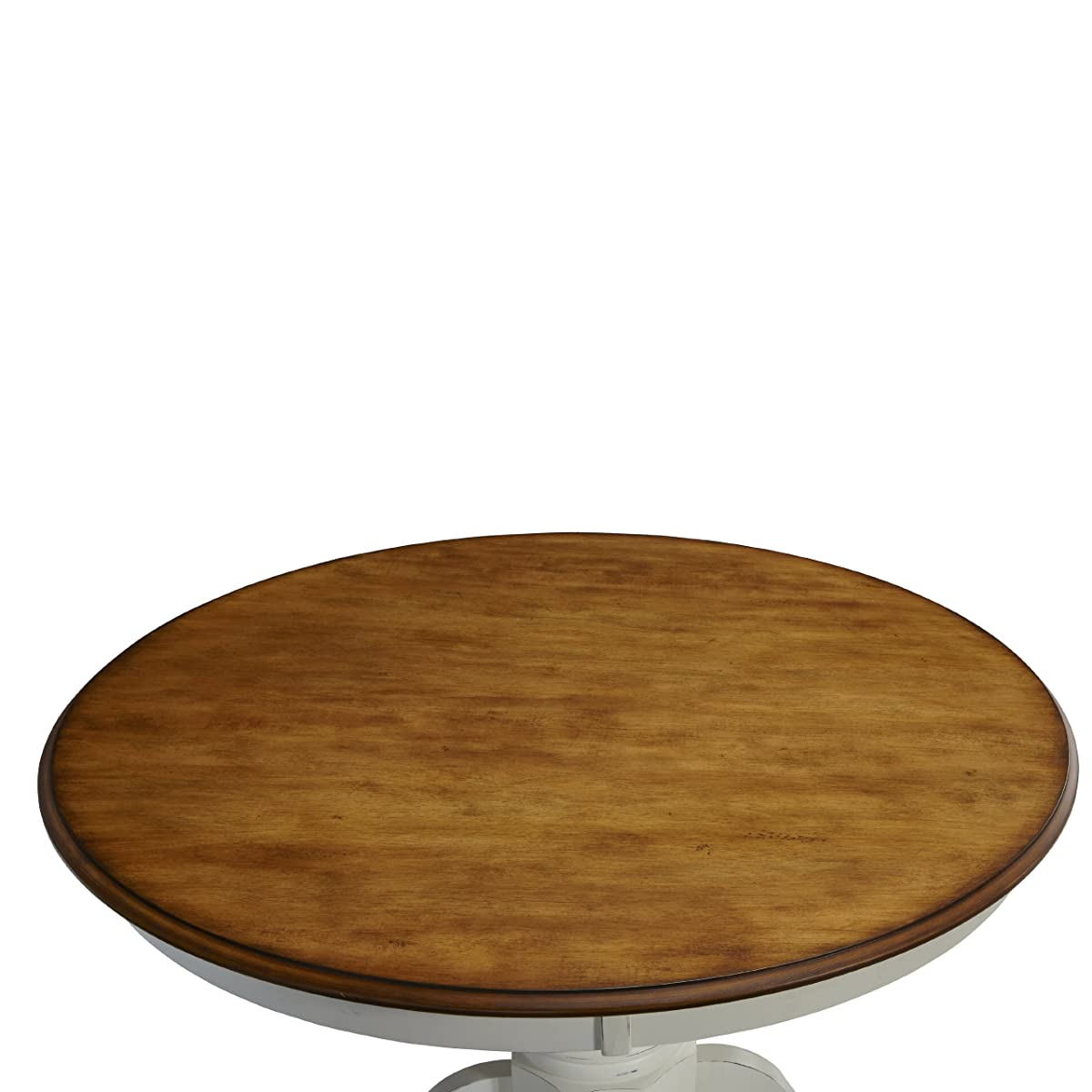 Home Styles 5518-30 The French Countryside Pedestal Table, Oak and Rubbed White