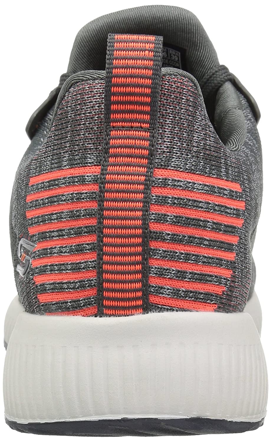 Skechers on Damen Bobs Squad-Double Dare Slip on Skechers Sneaker, Schwarz/Weißszlig; Charcoal Orange 6fc4fe