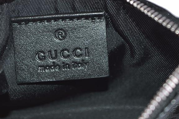 Gucci Negro GG Guccissima Imprime Monedero Llavero: Amazon.es: Zapatos y complementos