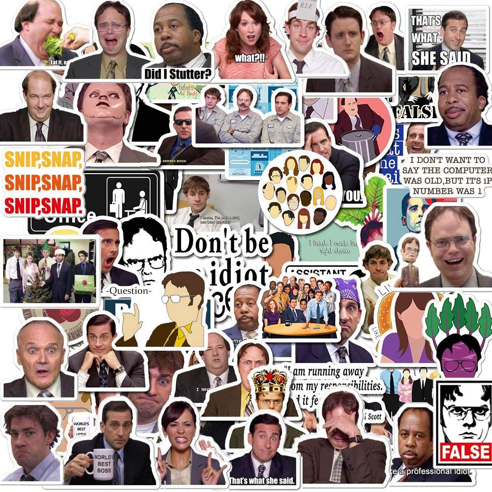 The Office Stickers [100pcs],The Office Stickers for Laptops,WaterBottles,iPhone Kiss-Cut Vinyl Stickers Funny Durable Stickers