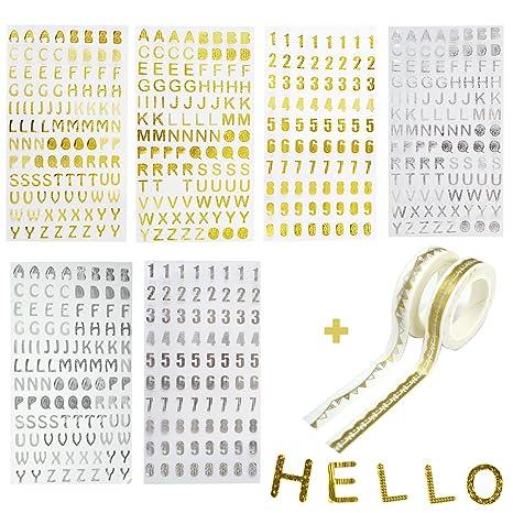 Adesivi Glitterati A Forma Di Numeri E Lettere Dellalfabeto Colori